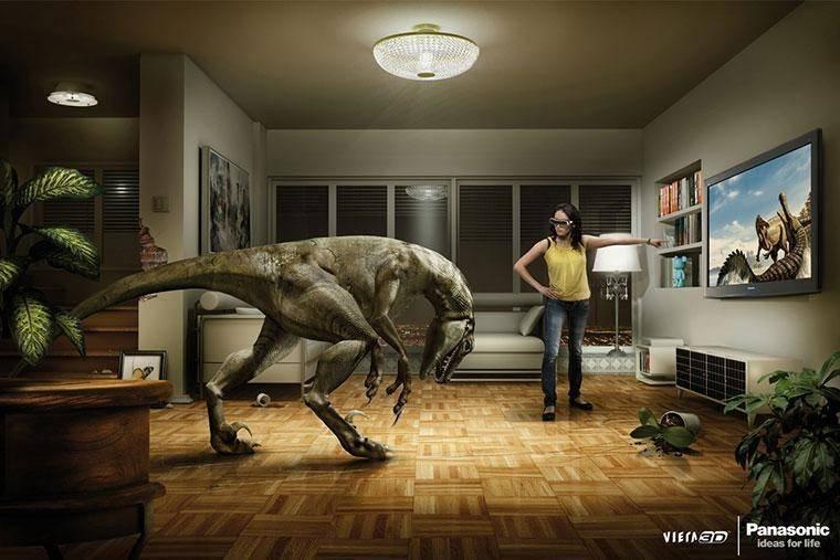 Panasonic на высоте: лучшая реклама 3D