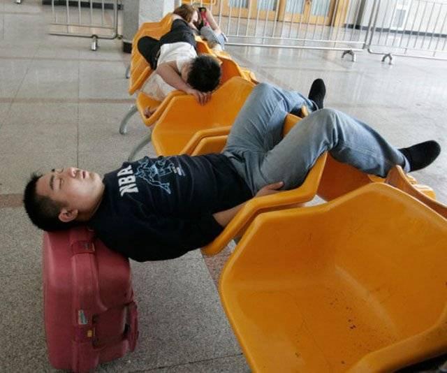 Пассажиры в ожидании своего рейса