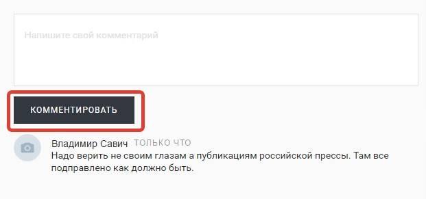 Форма комментирования на сайте «Газета.ру»