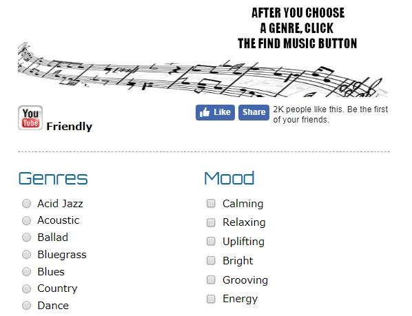 Фрагмент главной audionautix.com