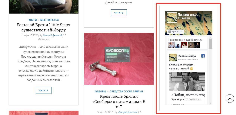 Простая установка виджета страницы на сайт