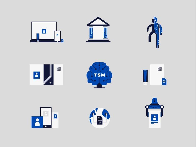 Пример иллюстративных иконок в дизайне