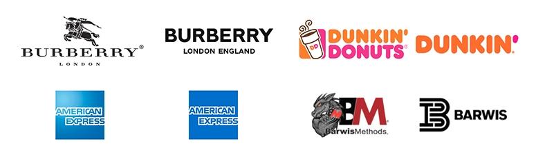 Примеры упрощения в логотипах