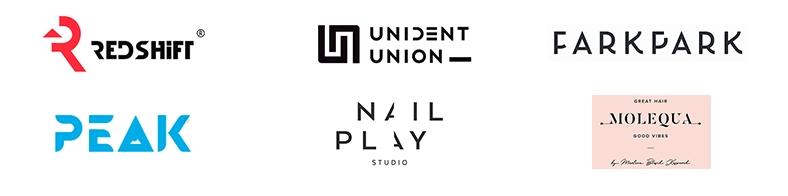 Примеры потерянных фрагментов в логотипах