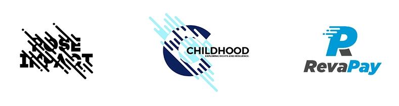 Примеры полосок в логотипах