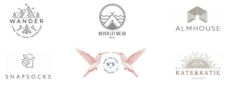 Примеры тонких линий в логотипах