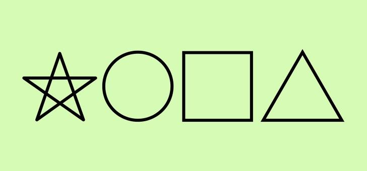 Звезда-круг-квадрат-треугольник