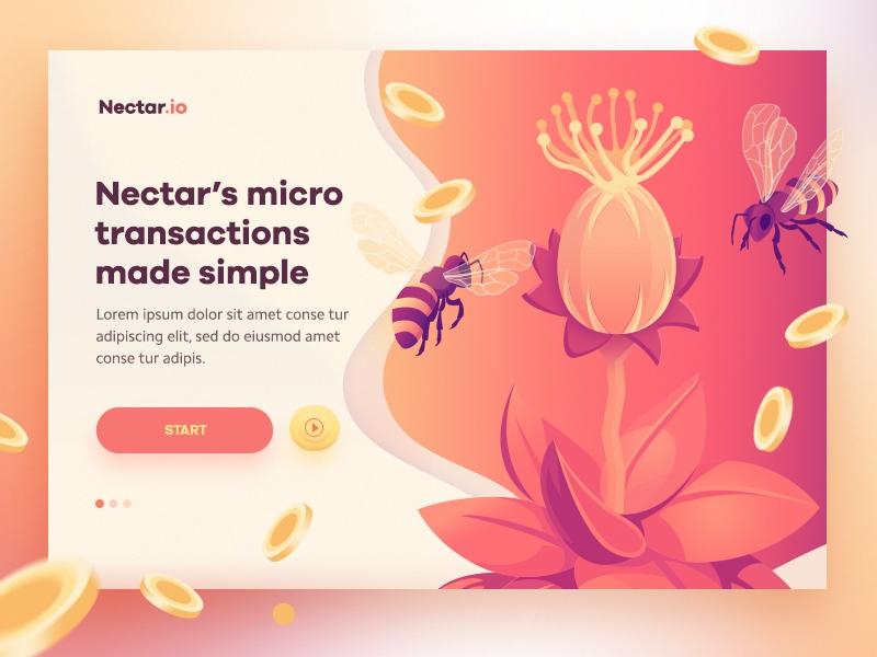 Пример градиента в дизайне от Nectar.io