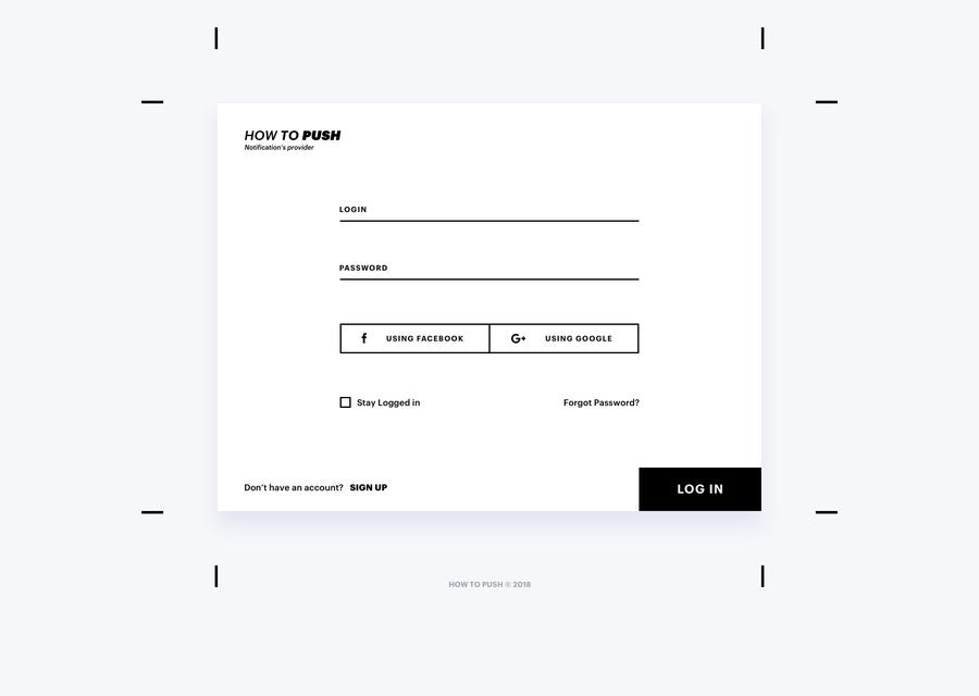 Пример минимализма в дизайне