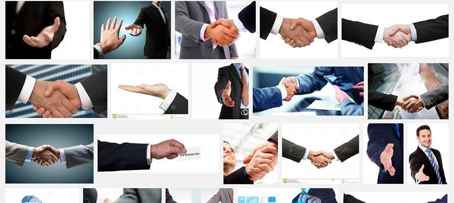 Или людей, крепко пожимающих друг другу руки?
