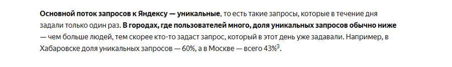 По данным «Яндекса»