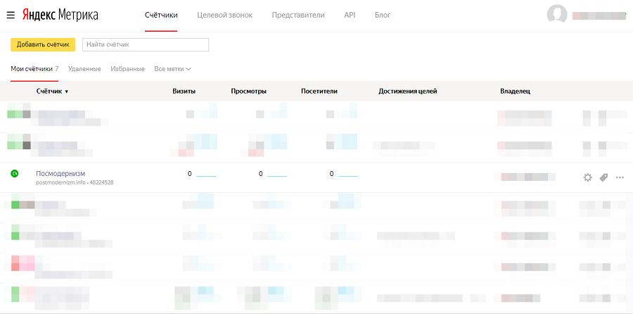 «Метрику» подключаем через модуль Google Analytics
