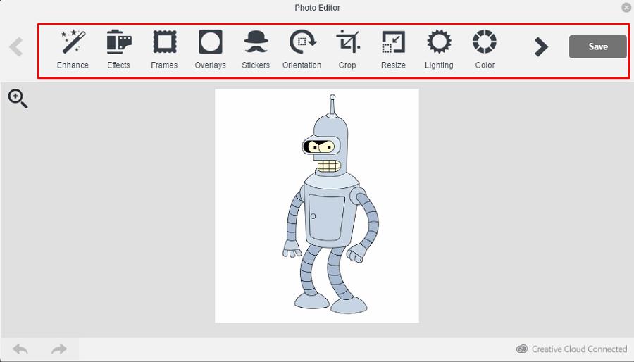В графическом редакторе MailChimp довольно много инструментов