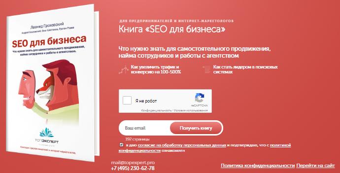 Леонид Гроховский четко определил ЦА и объяснил выгоду от чтения e-book