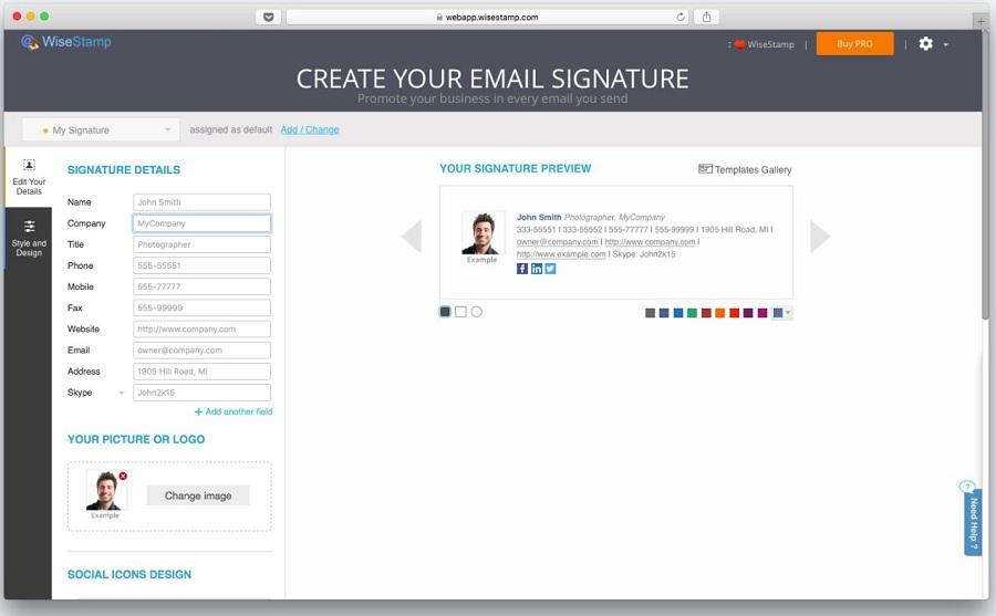 В западном сегменте интернета существует немало специализированных сервисов для создания email-подписей