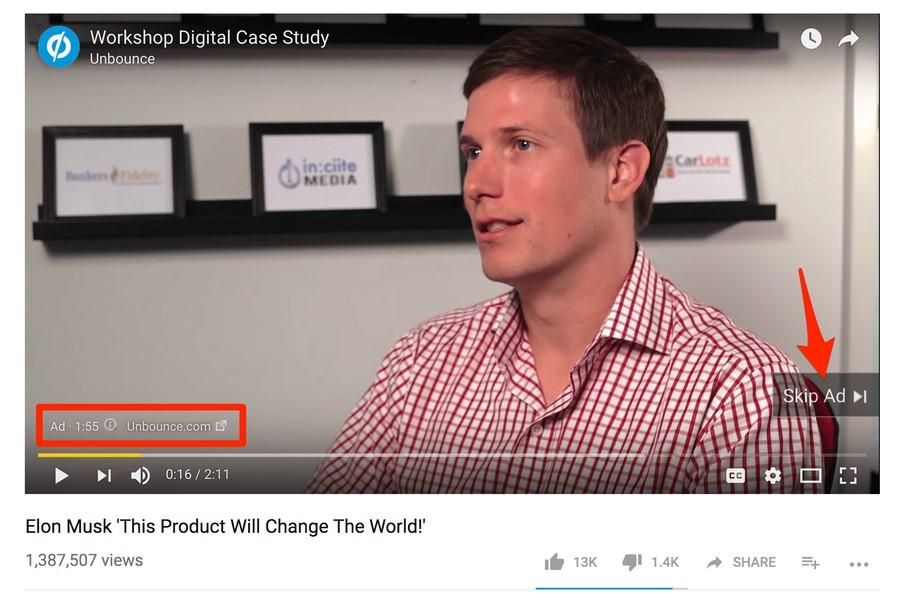 Пример In-stream Ad