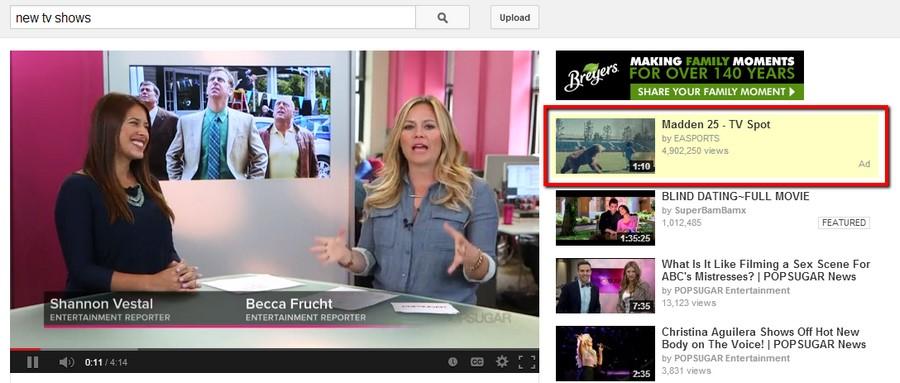 Пример Display YouTube Ad