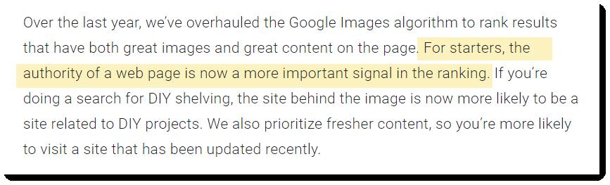 То есть Google хочет видеть в результатах поиска картинки с авторитетных ресурсов