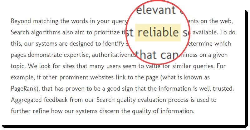 Reliable (англ.) – надежный, достоверный