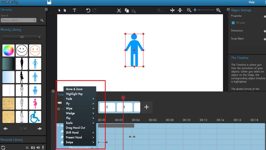Выберите красивые анимации для своих объектов и текста