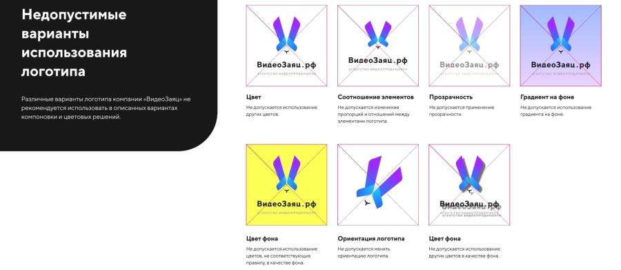 Ребрендинг для видеостудии «Видеозаяц.рф»