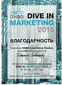 Савельев «Dive in marketing 2015»