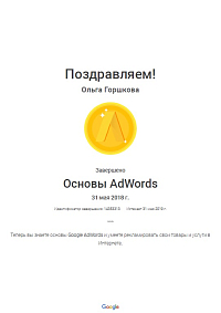 Горшкова Google Adwords